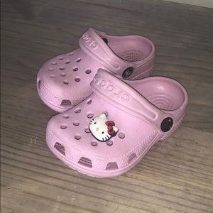 Hello Kitty Baby Pink slip on Crocs w strap!
